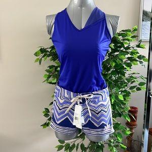 NWT: Size small purple/mauve adidas shorts & adidas racer back purple top small